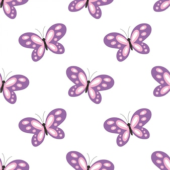 Cute butterfly seamless pattern.
