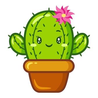 Милый кактус рисунок стикер