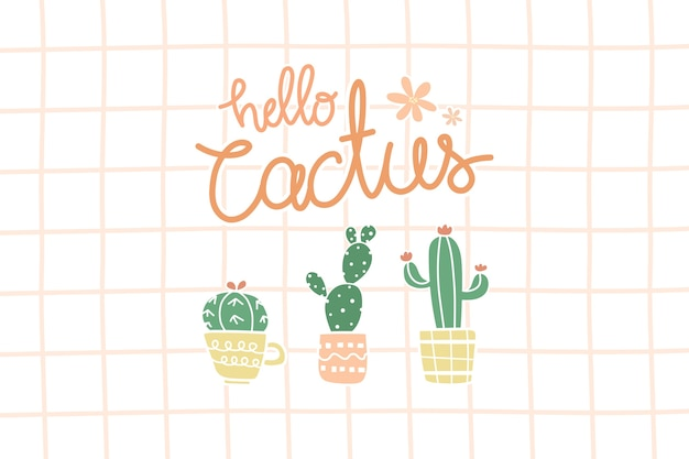 Cute cactus in pot