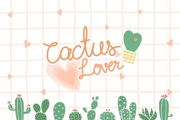Cute cactus with