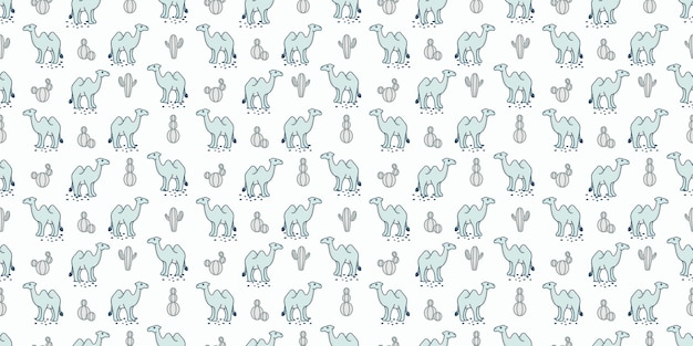 Cute camel seamless pattern background for baby theme