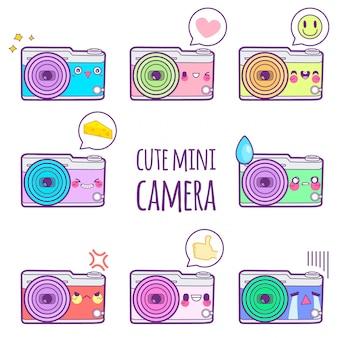 かわいいカメラステッカー絵文字