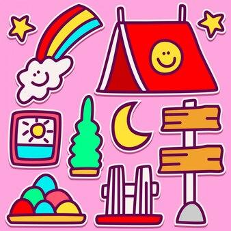 Cute camp doodle design