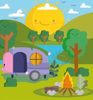 かわいいキャンプキャンプ