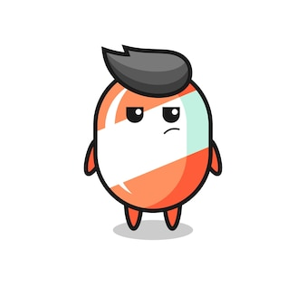 Cute candy character with suspicious expression , cute style design for t shirt, sticker, logo element
