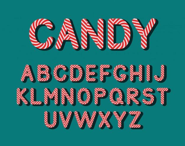 Cute candy lollipop alphabet