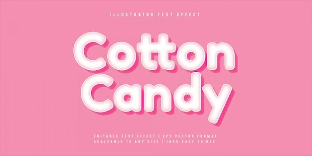귀여운 사탕 쾌활한 텍스트 스타일 글꼴 효과