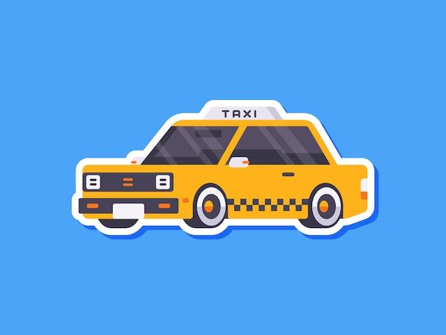 Симпатичный автомобиль стикер такси