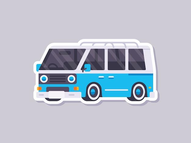 Cute car sticker van