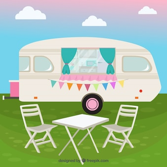 Cute caravan