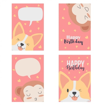 Cute card with animals
