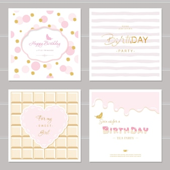 Cute cards for girls.