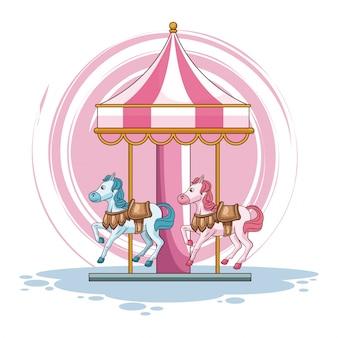 Cute carousel cartoon
