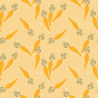 Cute carrot seamless pattern