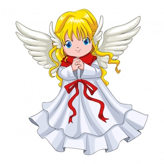 Cute cartoon of an angel