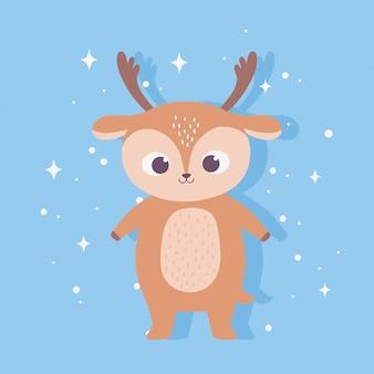 かわいい漫画の動物愛らしい野生のキャラクター小さな鹿
