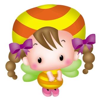 かわいい漫画の動物漫画小さな蜂バービーキャラクター人形甘いモデルの感情