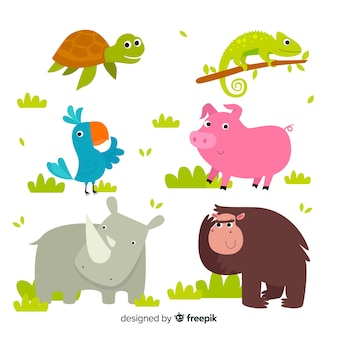 Cute cartoon animals pack