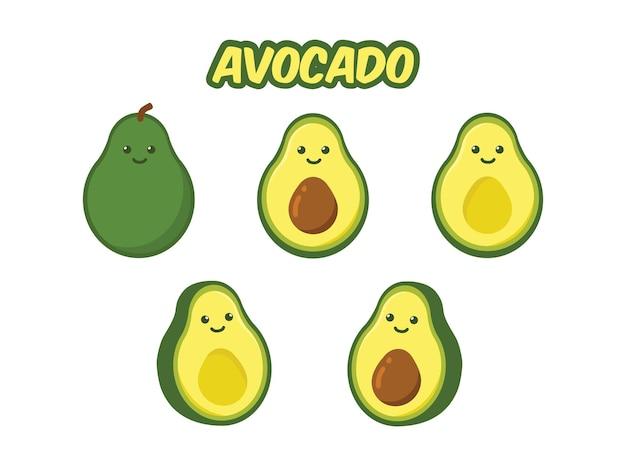 Симпатичный мультяшный авокадо.