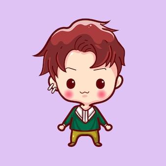 Cute cartoon character vector