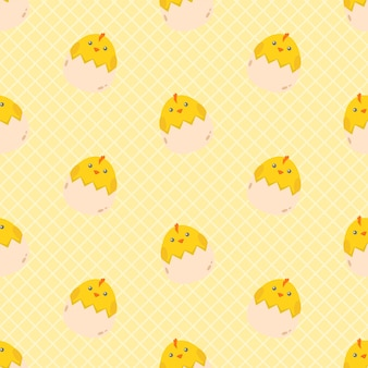 귀여운 만화 닭 병아리 원활한 패턴