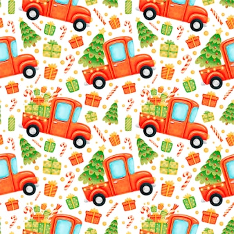 Cute cartoon christmas seamless pattern