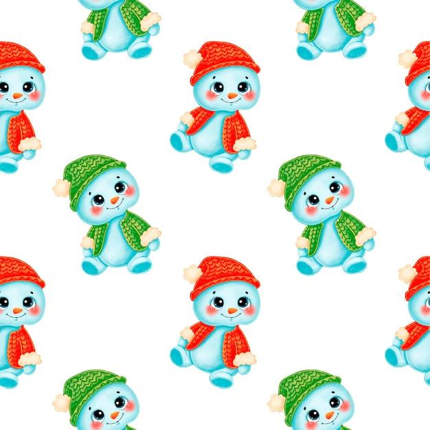 Cute cartoon christmas seamless pattern