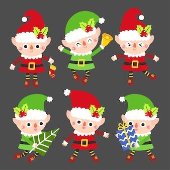 Cute cartoon christmas vector.