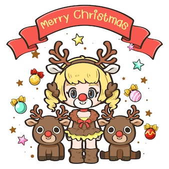 Cute cartoon christmas4
