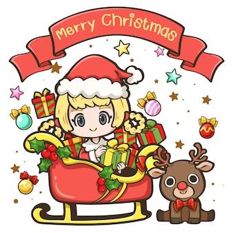 Cute cartoon christmas5