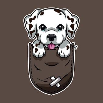 주머니에 귀여운 만화 개