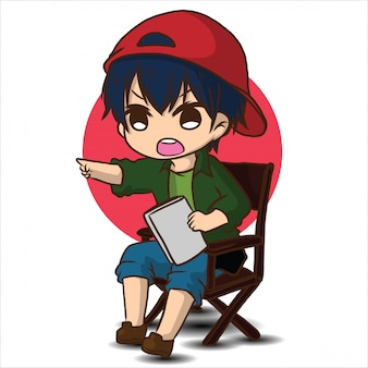Cute cartoon film director