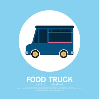 かわいい漫画の食品トラックのテンプレート。