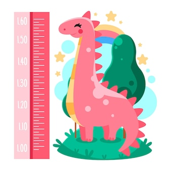 Misuratore di altezza simpatico cartone animato per bambini