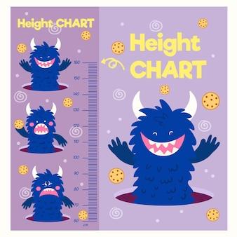 Misuratore di altezza simpatico cartone animato