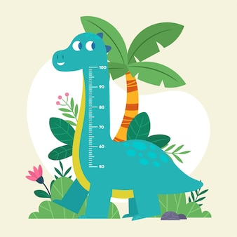 Cute cartoon height meter