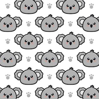 Милый мультфильм коала бесшовные модели