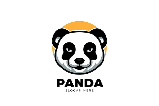 Cute cartoon logo for panda