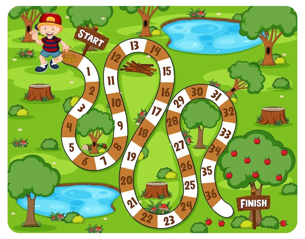 Cute cartoon maze game illustration