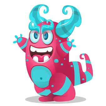 Cute cartoon monster for party decoration,