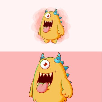 かわいい漫画の怪物