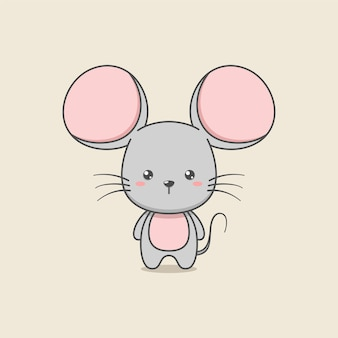 Cute cartoon mouse character