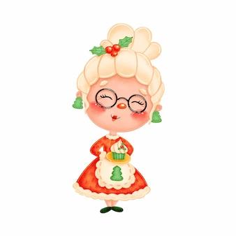 Cute cartoon mrs