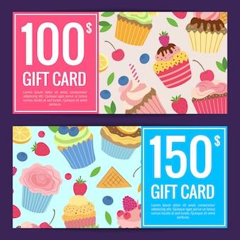 Cute cartoon muffins or cupcakes discount