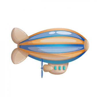 Cute cartoon multicolored striped girigible