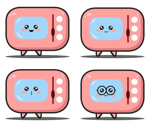 귀여운 만화 오븐 귀여운 디자인 프리미엄