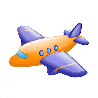Cute cartoon passenger airplane