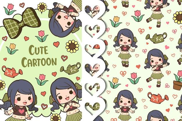 かわいい漫画のパターン