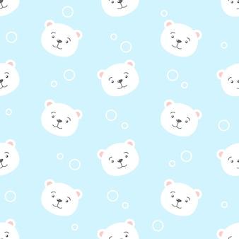 귀여운 만화 북극곰 원활한 곰