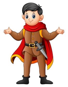 Cute cartoon prince